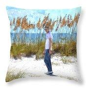 Cool On Anna Maria Island Throw Pillow
