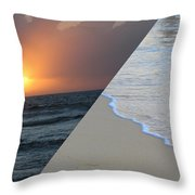 Always The Sun - Reunion Island - Indian Ocean Throw Pillow by Francoise Leandre