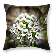 Alyssium Reflected Throw Pillow