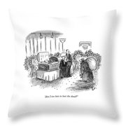 Am I Too Late To Loot The Dead? Throw Pillow