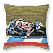 Ama Superbike Danny Eslick Throw Pillow