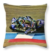 Ama Superbike Josh Jayes From Above Throw Pillow