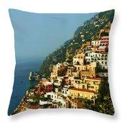 Amalfi Coast Hillside II Throw Pillow