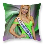 Amanda Jenkins Nevada Teen Usa Throw Pillow