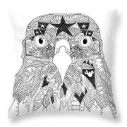 Amarican Eagle Black White Throw Pillow