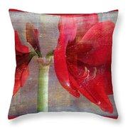 Amaryllis In The Rough Throw Pillow