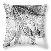 Amaryllis Throw Pillow
