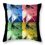 Amaryllis Pop Art Throw Pillow