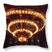 Amazing Art Nouveau Antique Chandelier - Grand Central Station New York Throw Pillow