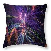 Amazing Beautiful Fireworks Throw Pillow