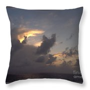 Amazing Clouds At Sunset Throw Pillow