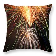 Amazing Fireworks Throw Pillow
