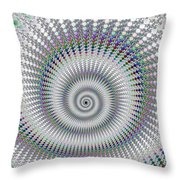 Amazing Fractal Spiral With Great Depth Throw Pillow