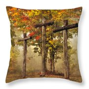 Amazing Grace Throw Pillow by Debra and Dave Vanderlaan