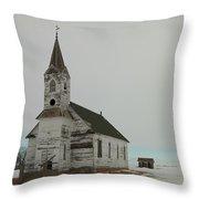 Amazing Grace In North Dakota Throw Pillow