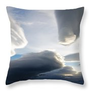 Amazing Skies Over Puerto Natales Chile Throw Pillow