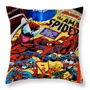 Amazing Spiderman Throw Pillow
