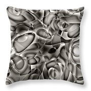 Amazing World Of Cells - Black And White Throw Pillow