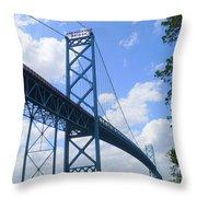 Ambassador Bridge Throw Pillow