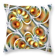 Amber Clusters Throw Pillow