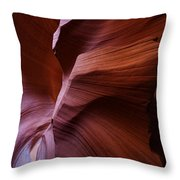 Amber Flow Throw Pillow