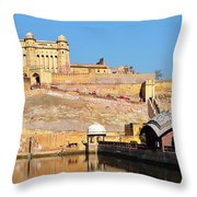 Amber Fort - Jaipur India Throw Pillow