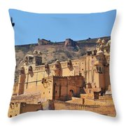 Amber Fort View - Jaipur India Throw Pillow