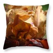 Amber Iris Waves Throw Pillow