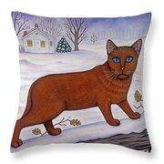 Amber On White Throw Pillow