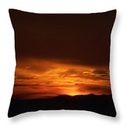 Amber Sky Throw Pillow
