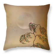 Amber Vision Throw Pillow by Bedros Awak