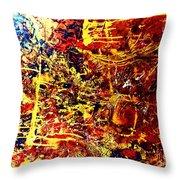 Amber Wonderland Throw Pillow