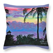 Ambergris Caye Sky Belize Throw Pillow