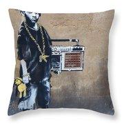 Ambivalence Banksy Throw Pillow
