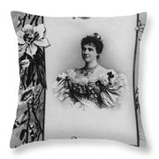 Amelie Of Portugal (1865-1951) Throw Pillow