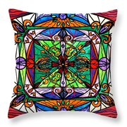 Ameliorate Throw Pillow by Teal Eye  Print Store