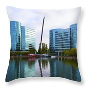 America Cup Winner Oracle Team Usa In Redwood City Ca Throw Pillow