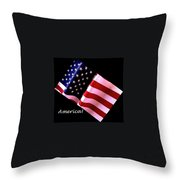 America Greeting Card Throw Pillow