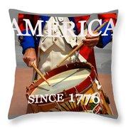 America Since 1776 Throw Pillow