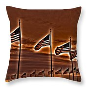 America Still Stands Throw Pillow