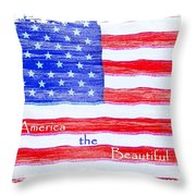 America The Beautiful Throw Pillow by Robert ONeil