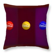 American Abstract Throw Pillow