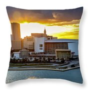 American Airlines Arena Throw Pillow