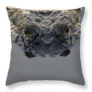 American Alligator Everglades National Throw Pillow