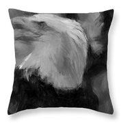 American Bald Eagle V4 Throw Pillow