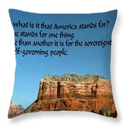 American Belief Throw Pillow
