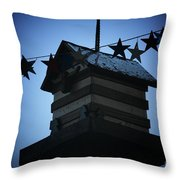 American Bird House Throw Pillow