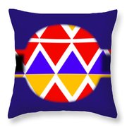 American Black Throw Pillow