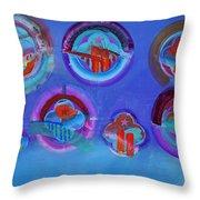 American Blue Throw Pillow