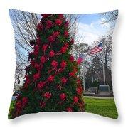 American Christmas Throw Pillow